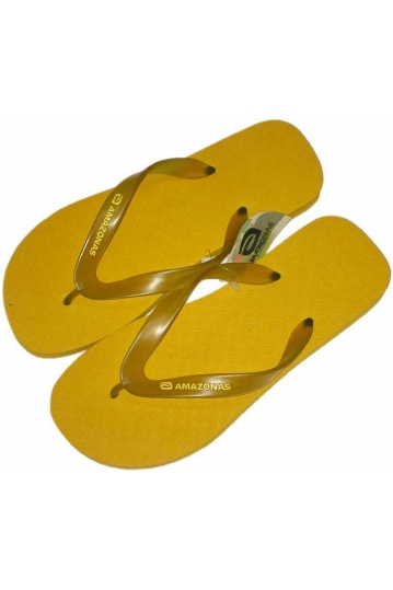 Amazonas Fun men's flip flops in yellow