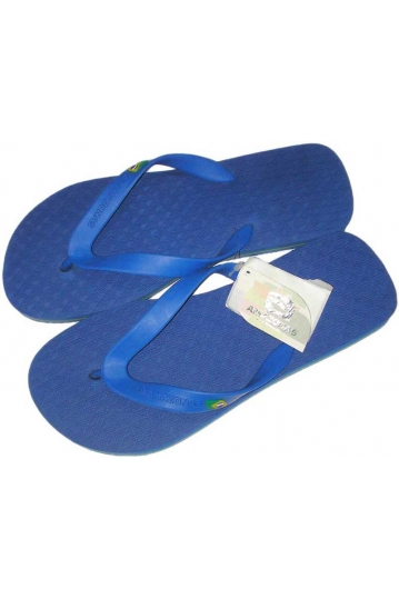 Amazonas Fun Flag men's flip flops in royal blue