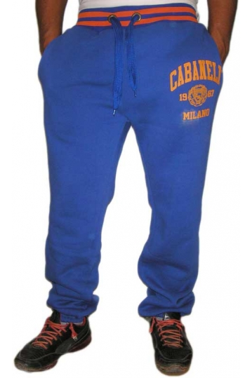 Cabaneli sweatpant royal blue - orange