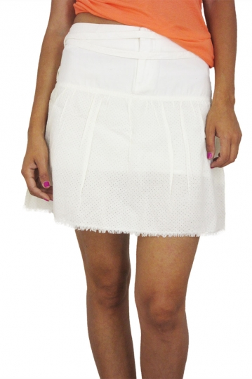 Insight mini skirt in off white