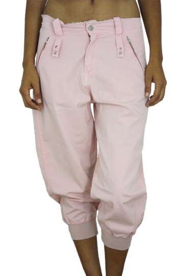 Women's capri pants pink Indian Rose
