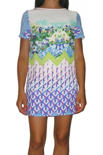 Glamorous short sleeve mini print dress