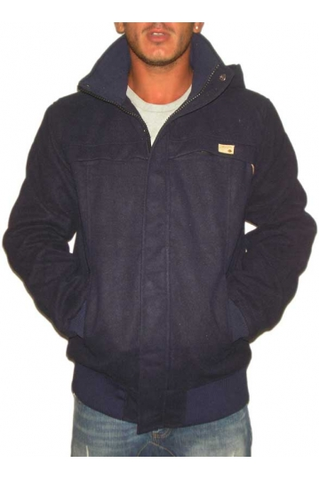 Humor Thron men's hooded jacket in blue