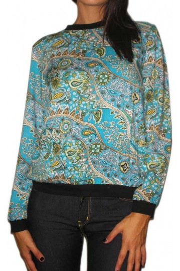 Ruby Rocks women's blouse turquoise in paisley print