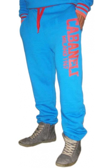 Cabaneli sweatpants royal blue-red