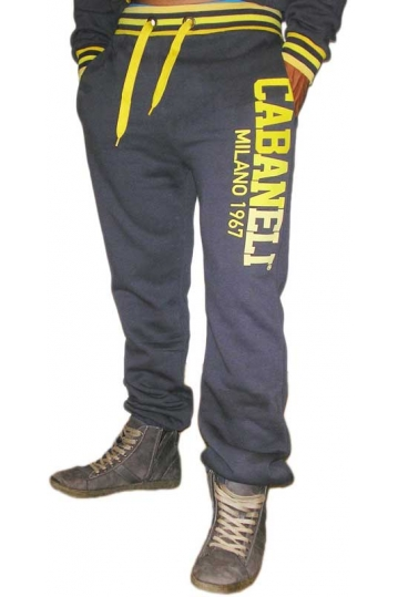 Cabaneli sweatpants grey-yellow