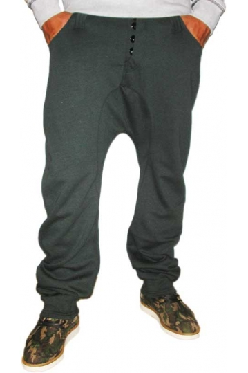 Humor Santiago men's sweatpants in darkest spruce melange