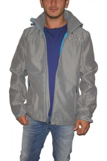 Men's fleece lined lightweight jacket in light grey