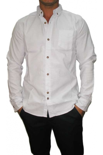 Bellfield men's Augustus shirt in white