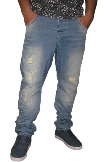Humor Zuniga men's faded jeans with rips