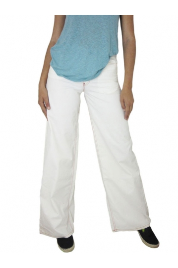 Killah women's high waist wide leg trousers white