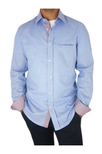 Missone men's fine rhombus print shirt