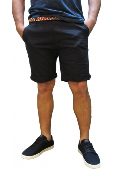 Bellfield men's chino shorts Hemmingway in navy