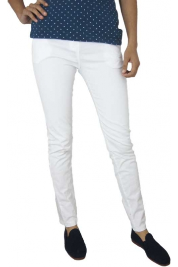 Women's cigarette chino trouser white