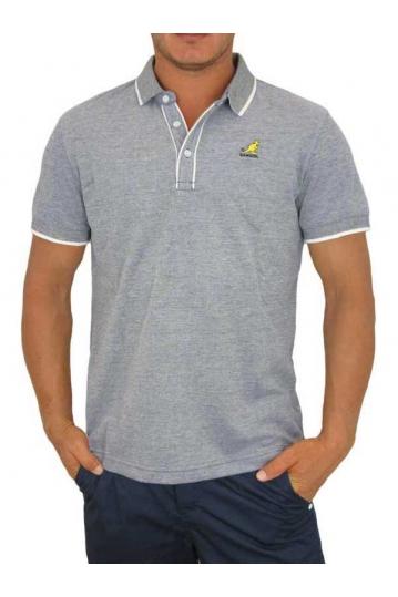 Men's polo t-shirt Hinton in navy marl