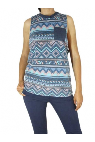 Bellfield women's sleeveless aztec print top Victoria