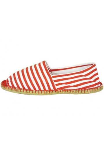 Reservoir men's red Breton stripe espadrilles