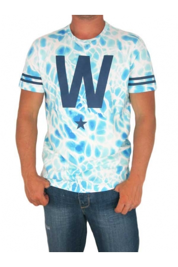 Wesc men's t-shirt W Star white-blue
