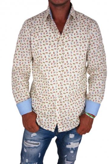 Missone men's shirt with bobbin print