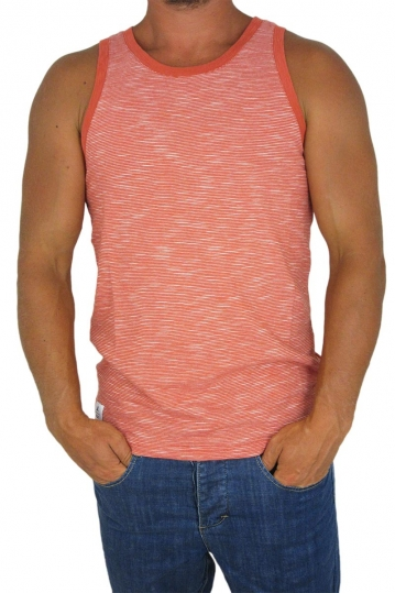 Wesc men's tank top Razmus stripe flam? red