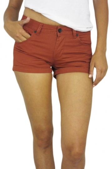 Wesc women's shorts Roxanne burnt henna