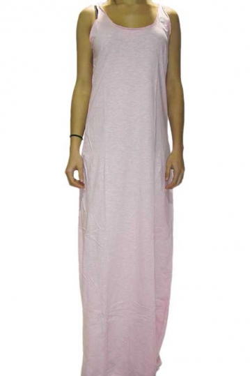 Old Glory Gr light pink cotton maxi dress