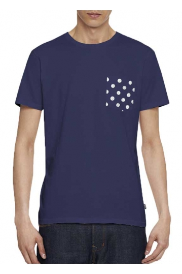 Wesc Ballin men's blue t-shirt with pocket
