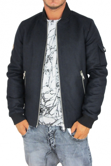 Bellfield Wario men's bomber wool jacket