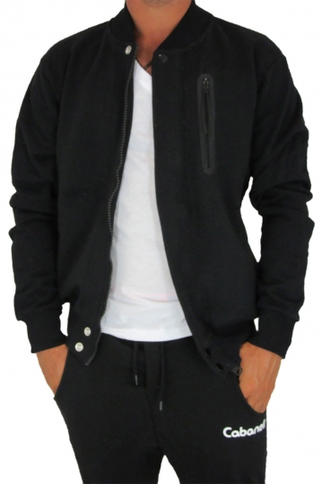 Cabaneli sweat jacket black