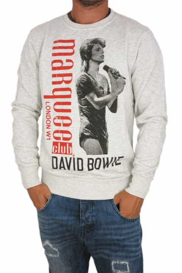 Worn by men's sweatshirt Bowie at the Marquee club in ecru marl