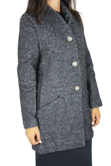 Mishmash women's boucle coat Jiped grey