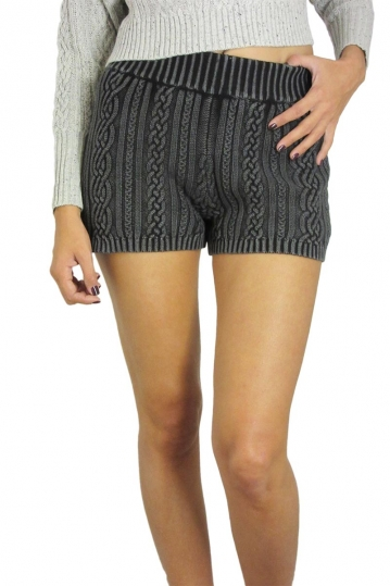 Afends women's knitted shorts on black acid