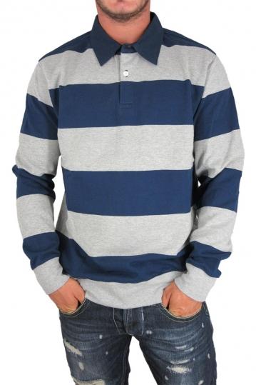 Obey ανδρική ριγέ φούτερ μπλούζα με γιακά Edinburgh rugby