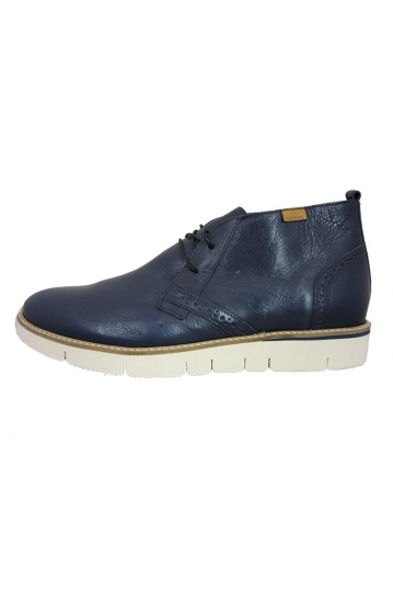 Stefan men's mid top leather boot blue