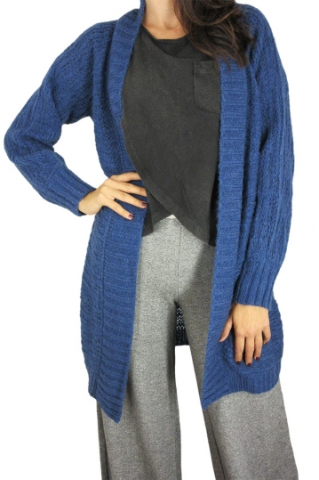 Agel Knitwear open-knit cardigan in blue