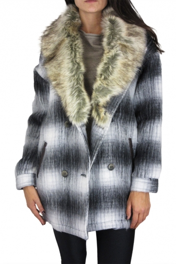Bellfield women's jacket with fur collar Widnes