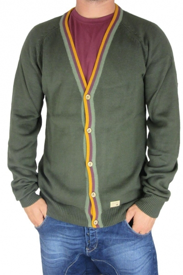 Humor men's cardigan Nigell in rosin