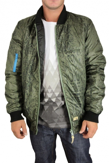 Humor double-face Bomber jacket olive-black
