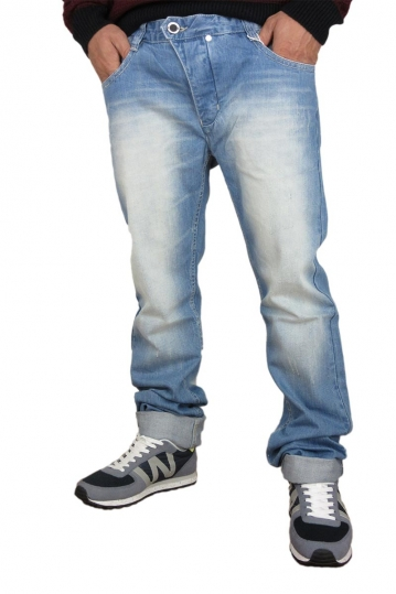 Humor men's faded jeans Jalle with abrasions