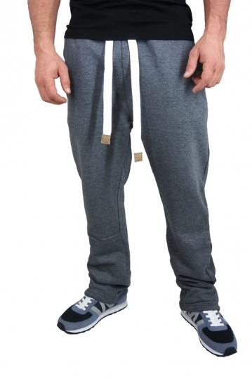 Men's sweatpants in grey melange