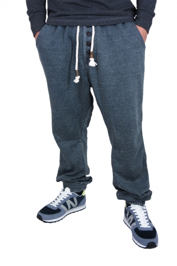 Men's stone washed sweatpants in charcoal