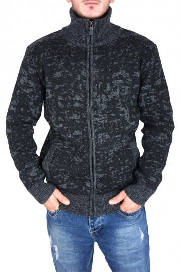 Combos men's knitted zip cardigan