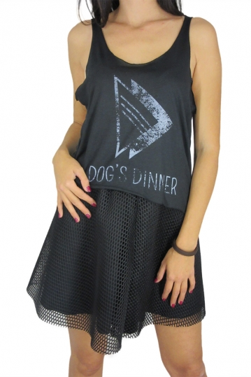 Dog's Dinner sleeveless top Aster black