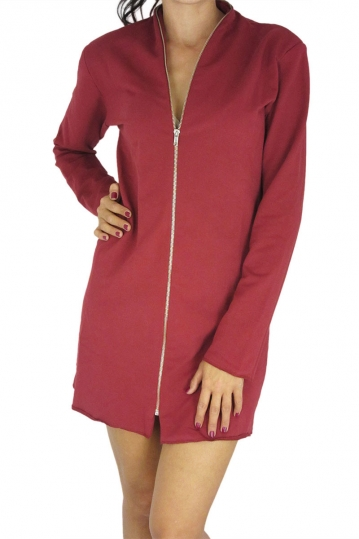 Dog's Dinner zip front mini dress Blubell bordeaux