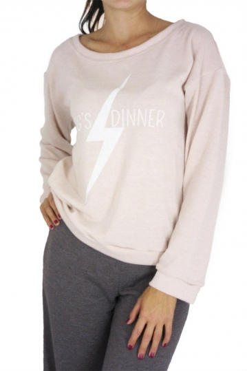 Dog's Dinner knitted blouse Tulip pink