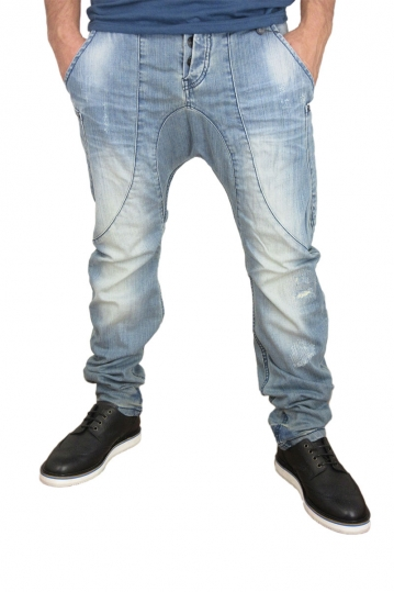 Humor Zanka jeans light blue wash with abrasions