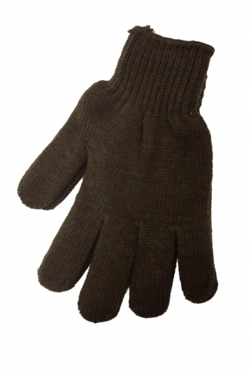 Knitted gloves brown