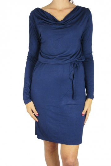 Smash long sleeve dress Ignacia blue