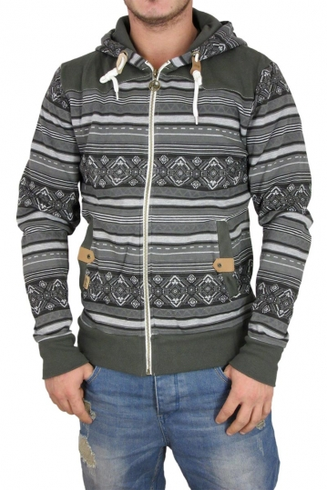 Buzz men's zip hoodie in faded black