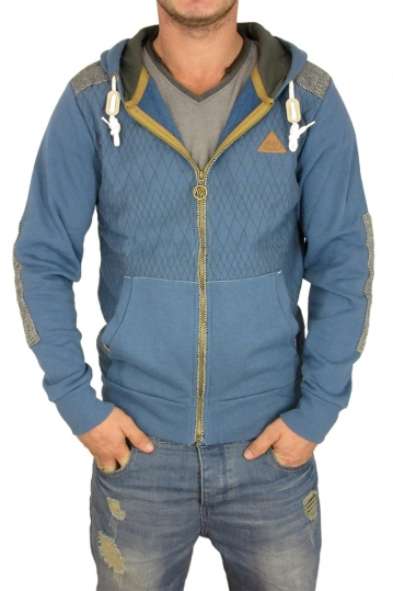 Campbell men's zip hoodie in blue